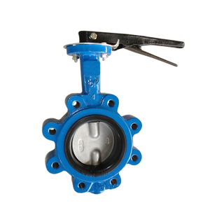 Lug Type Butterfly Valve Cast Iron Pn16 Split Shaft Pinless