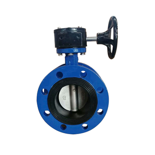 Cast Iron Rubber Seat PN16 Flange Butterfly Valve