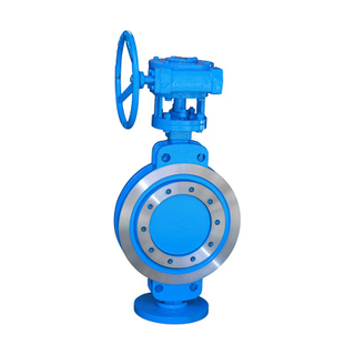 Wcb Pn16 Triple Eccentric Wafer Butterfly Valve